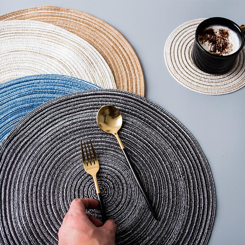 Round weave placemat available in four colours. This placemat will complete your dinner setting in style. 1Round Weave Placemat - The Home Accessories Company 1