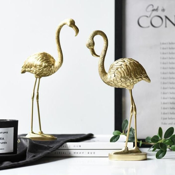 Golden Flamingo Sculpture- The Home Accessories Company