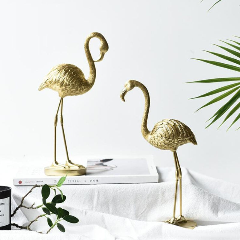 Golden Flamingo Sculpture- The Home Accessories Company 1