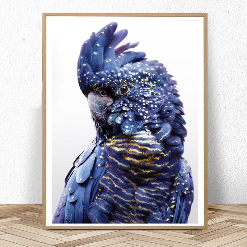 Navy & Gold Parrot Wall Art- The Home Accessories Company
