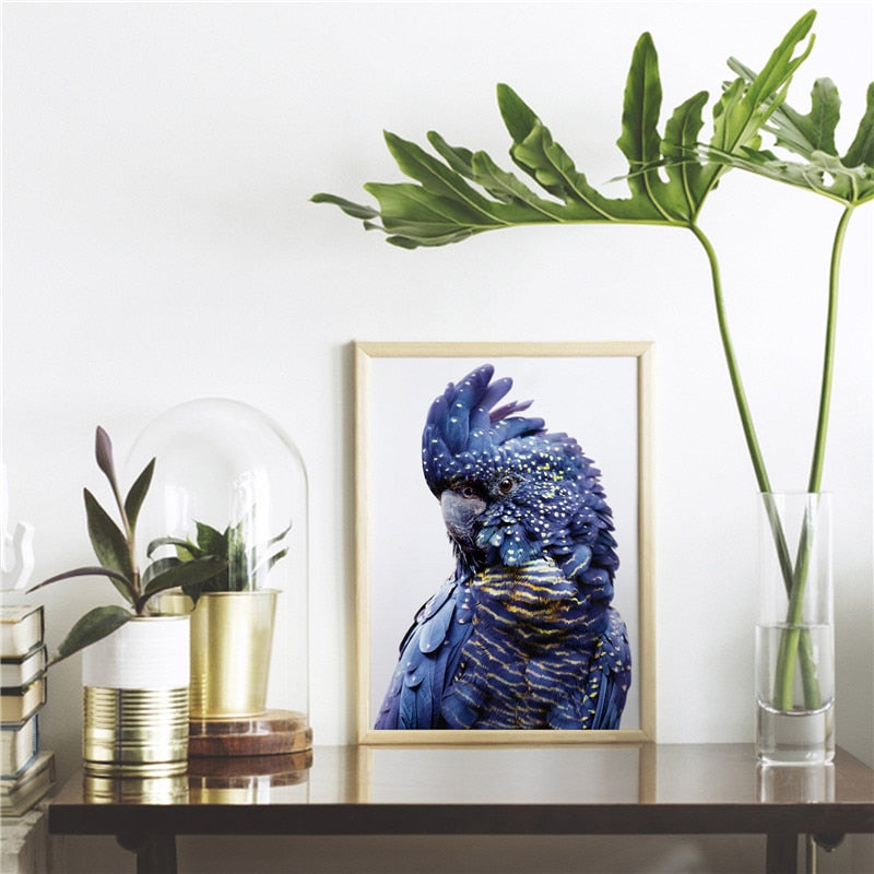 Navy & Gold Parrot Wall Art- The Home Accessories Company 3