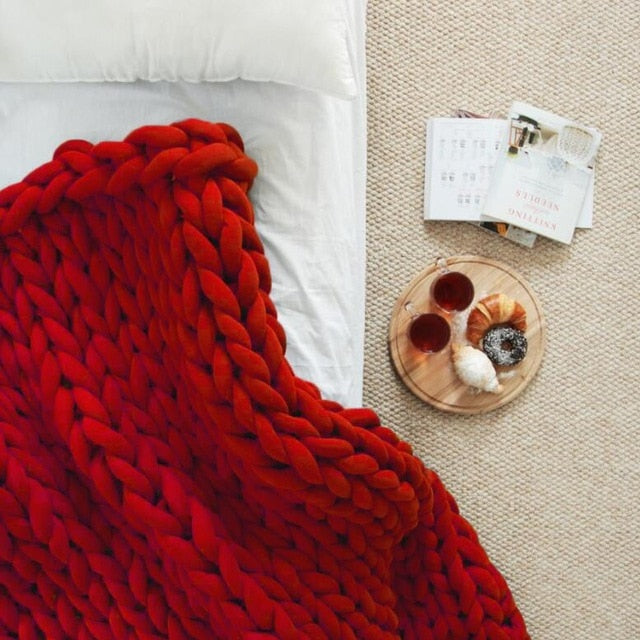 Chunky Knit throw- The Home Accessories Company 4
