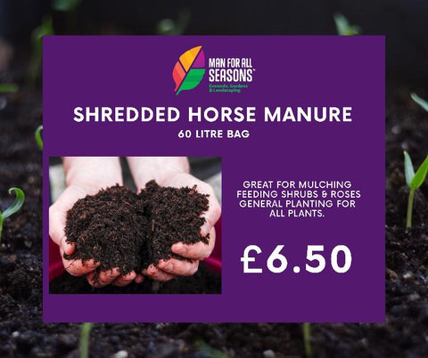 SHREDDED HORSE MANURE
