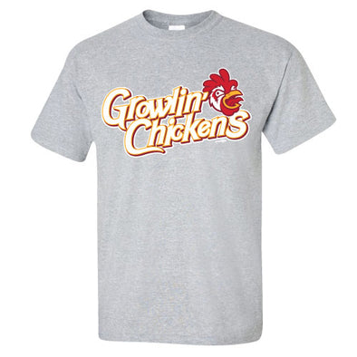 Adult Growlin' Chickens Gray Tee