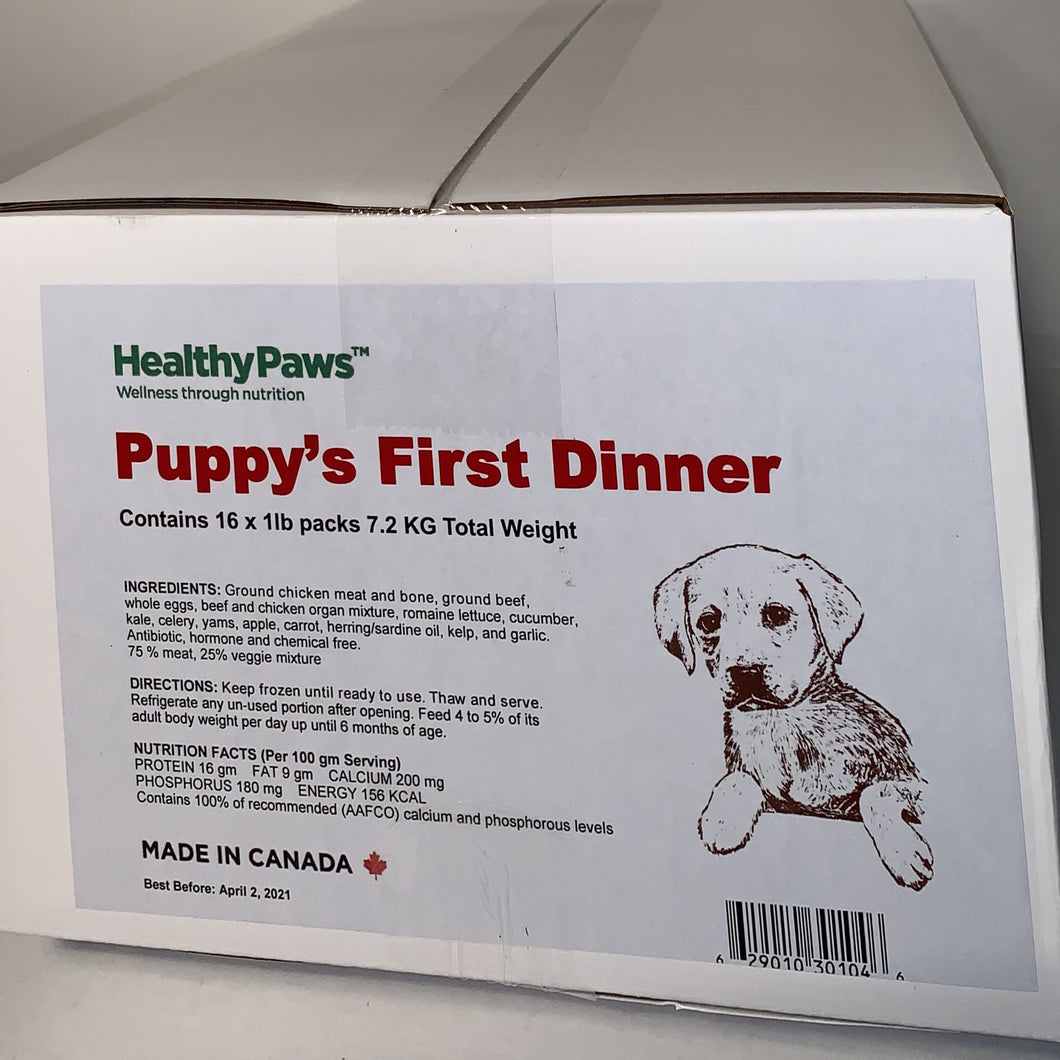 Big Box Dinners - 16x1lb - Puppy Size