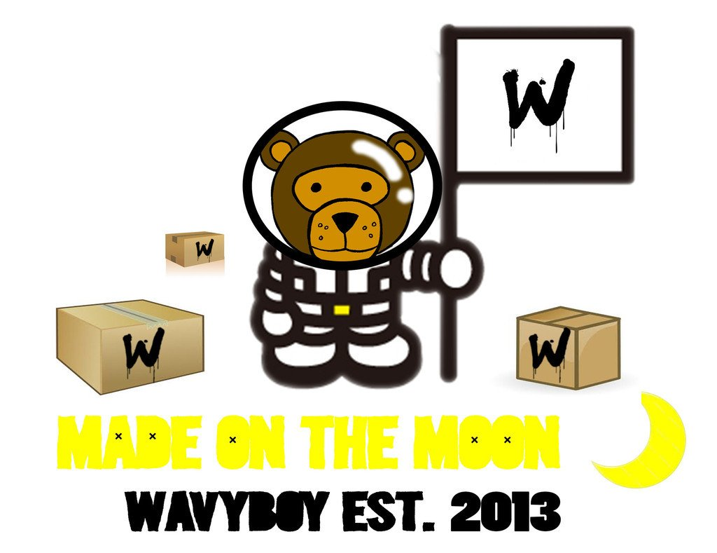 "Wavy Boy ""Made on the Moon"" Tee - Wavy Boy Clothing  - 3"
