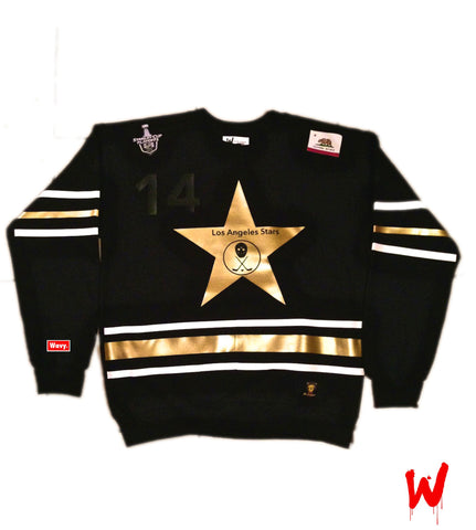 "Wavy Boy ""Los Angeles Stars"" Crew - Wavy Boy Clothing  - 2"