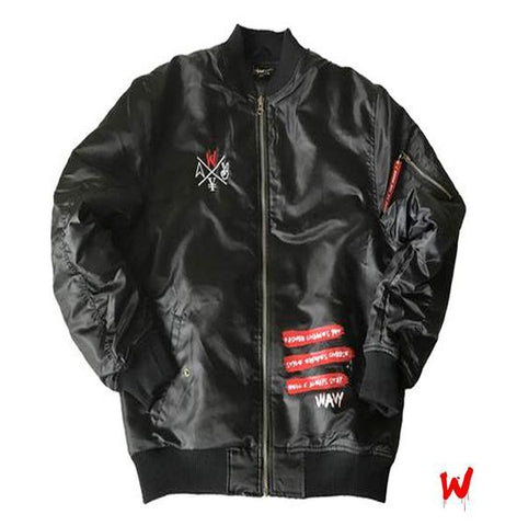 "Wavy Boy "" Drippy W"" bomber jacket"