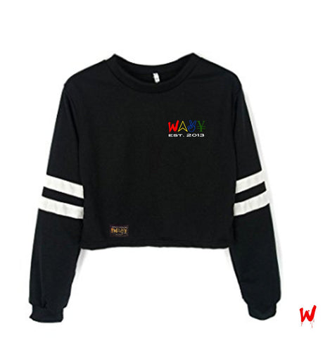 "Wavy Boy ""Color Wave"" cropped crew"