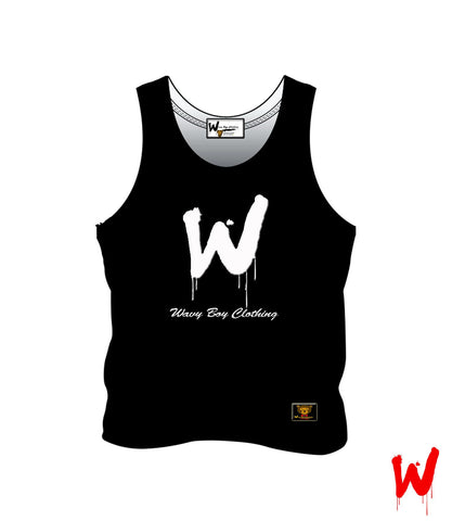 "Wavy Boy ""W"" tank - Wavy Boy Clothing"
