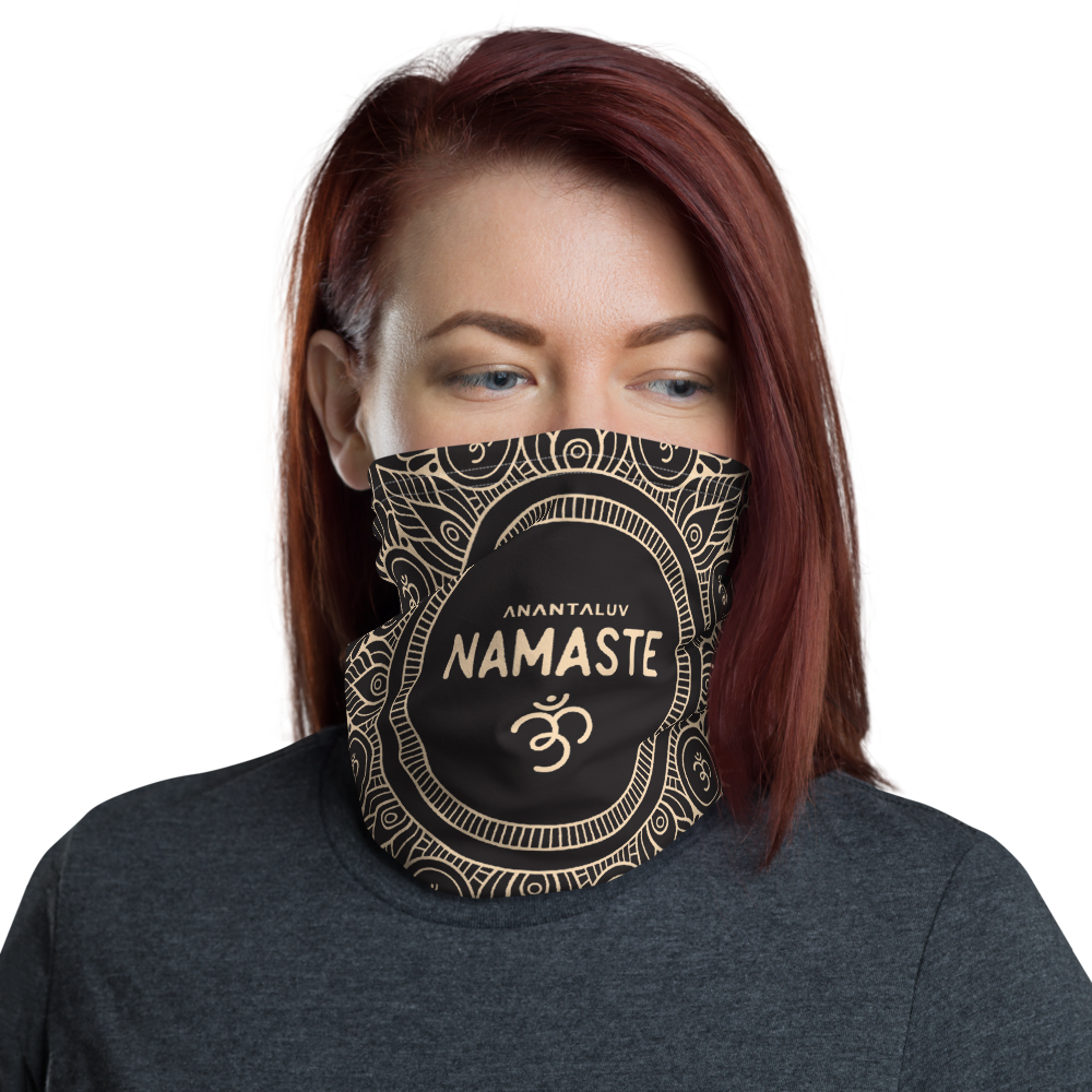 Namaste Black Multipurpose Neck Gaiter