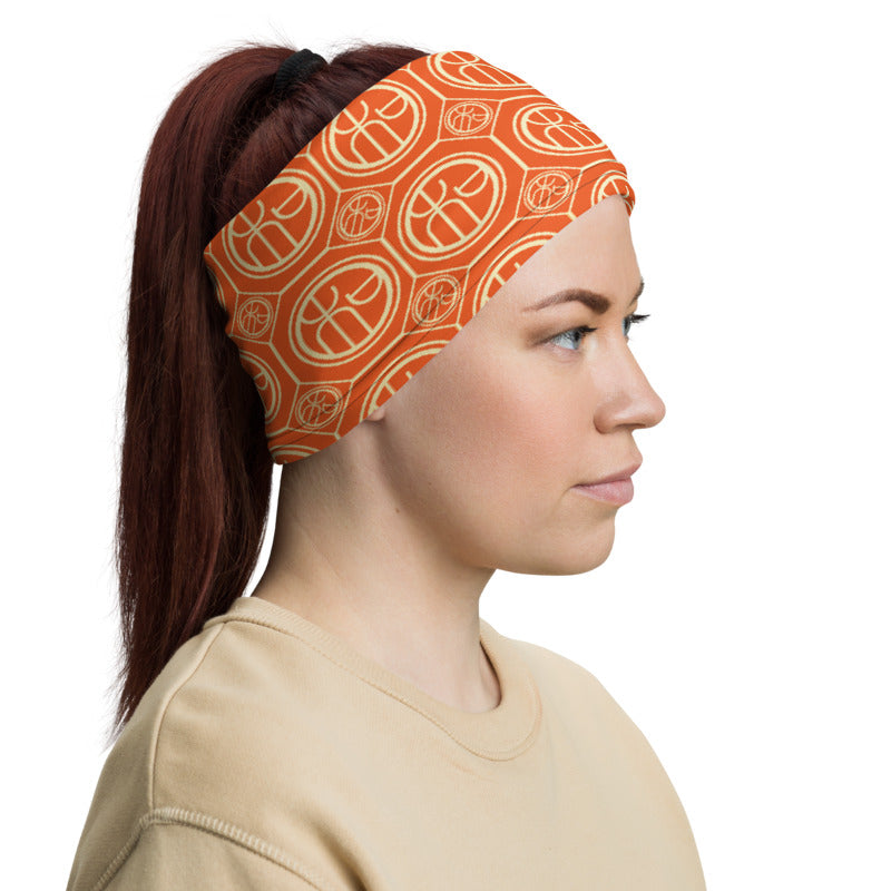 Chinese Harmony Orange TeeNeck Gaiter