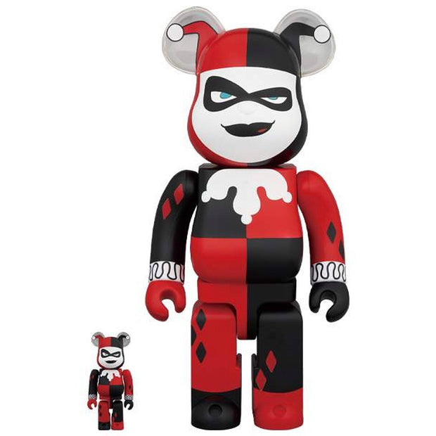 Bearbrick 100% & 400% Set Harley Quinn Batman Animated Series urban attitude