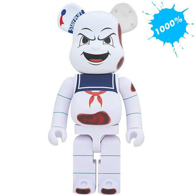 Bearbrick 1000% Ghostbusters Stay Puft Marshmallow Man Angry Face urban attitude