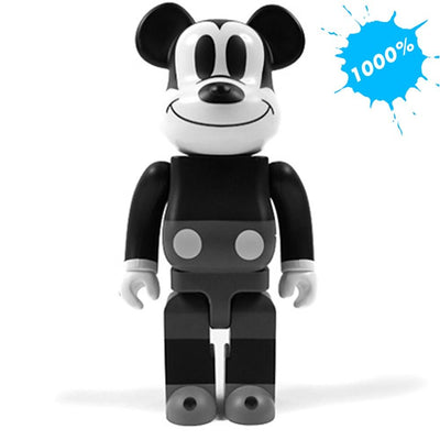 Bearbrick 1000% Mickey Mouse Black & White Version urban attitude
