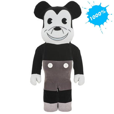 Bearbrick 1000% Mickey Mouse Vintage B&W Version urban attitude