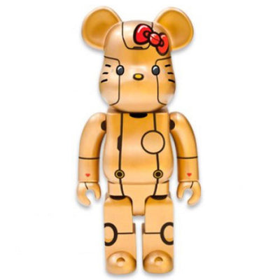Bearbrick 400% Hello Kitty Blue Robot Kitty Gold Version urban attitude