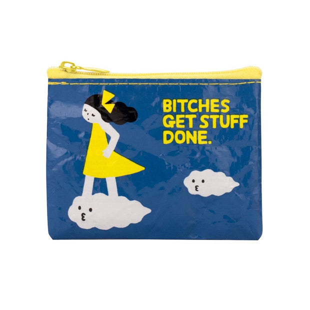 Blue Q Coin Purse Bitches Get Stuff Done Urban Attitude