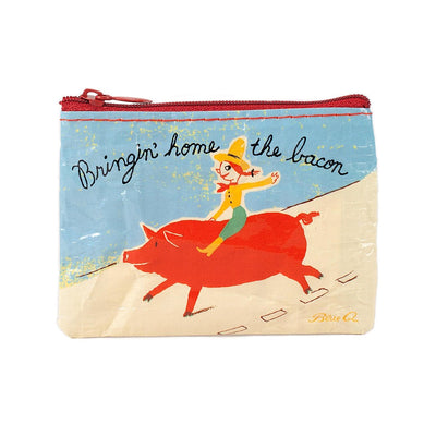 Blue Q Coin Purse Bringin' Home The Bacon Urban Attitude