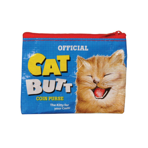 Blue Q Coin Purse Cat Butt Face Urban Attitude