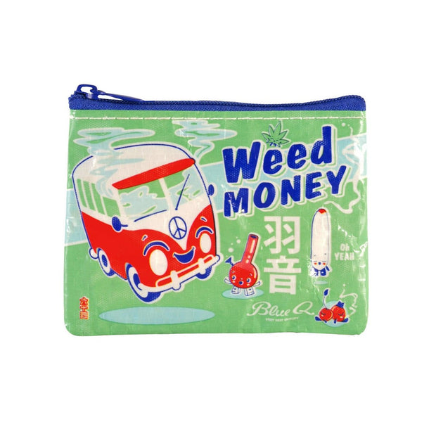Blue Q Coin Purse Weed Money Urban Attitude