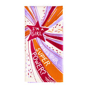 Blue Q Dish Towel I'm A Girl, What's Your Superpower Urban Attitude