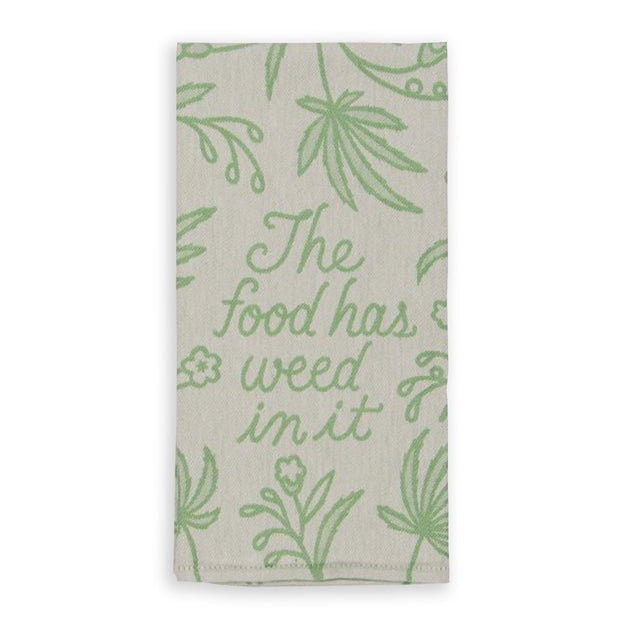 Blue Q Dish Towel The Food Has Weed In It Urban Attitude