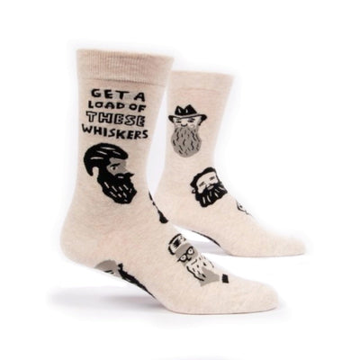 Blue Q Men's Crew Socks Get A Load Of These Whiskers Urban Attitude