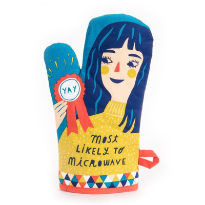 Blue Q Oven Mitt Most Likely To Microwave Urban Attitude