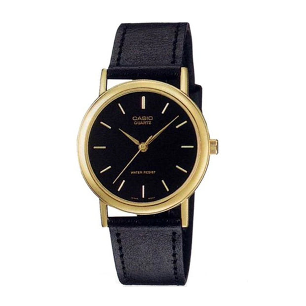Casio Watch Analogue Black And Gold MTP1095Q-1A Urban Attitude