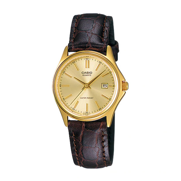 Casio Watch Analogue Brown And Gold MTP1183Q-9A Urban Attitude