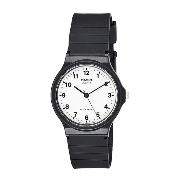 Casio Watch Analogue White And Black MQ24-7B Urban Attitude