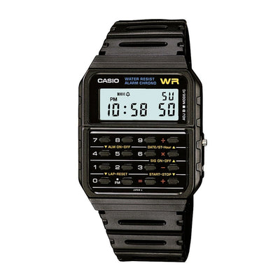 Casio Watch Calculator Black CA53W-1 Urban Attitude