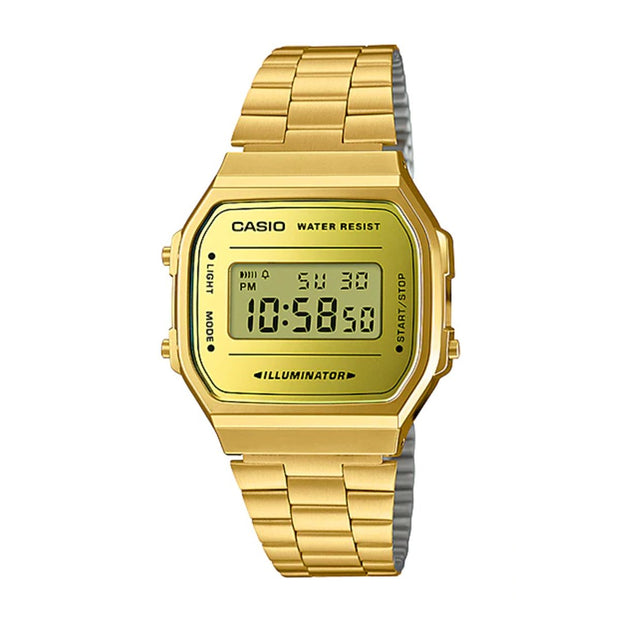 Casio Watch Digital Illuminator Gold A168WG-9 Urban Attitude