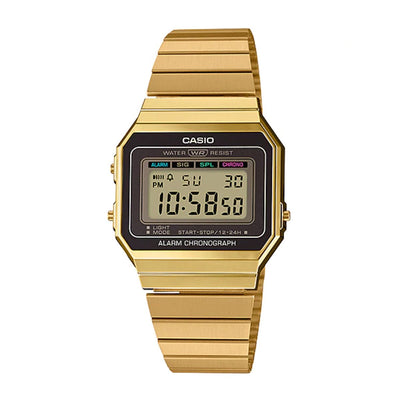 Casio Watch Digital Super Slim Gold A700WG-9A Urban Attitude