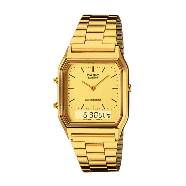 Casio Watch Duo Time Gold AQ230GA-9DS Urban Attitude