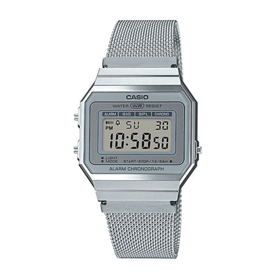 Casio Watch Super Slim Silver Mesh A700WM-7A Urban Attitude