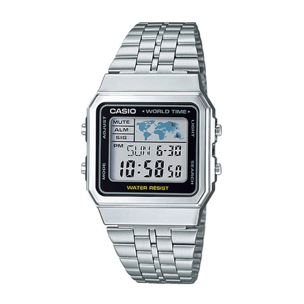 Casio Watch World Silver A500WA-1DF Urban Attitude