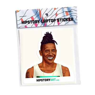 Hipstory Laptop Sticker Barack Obama Urban Attitude