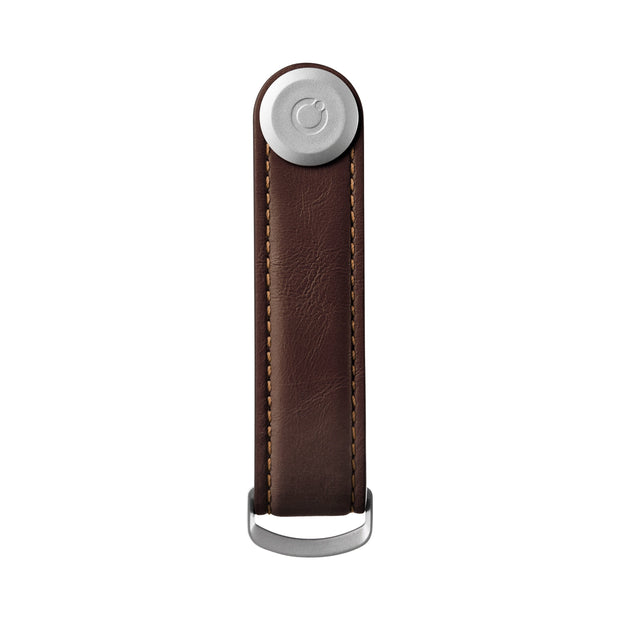 Orbitkey Key Organiser Leather Espresso With Brown Stitching Urban Attitude