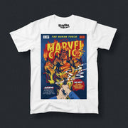 Radio Velvet Marvel T-Shirt - Human Torch Urban Attitude
