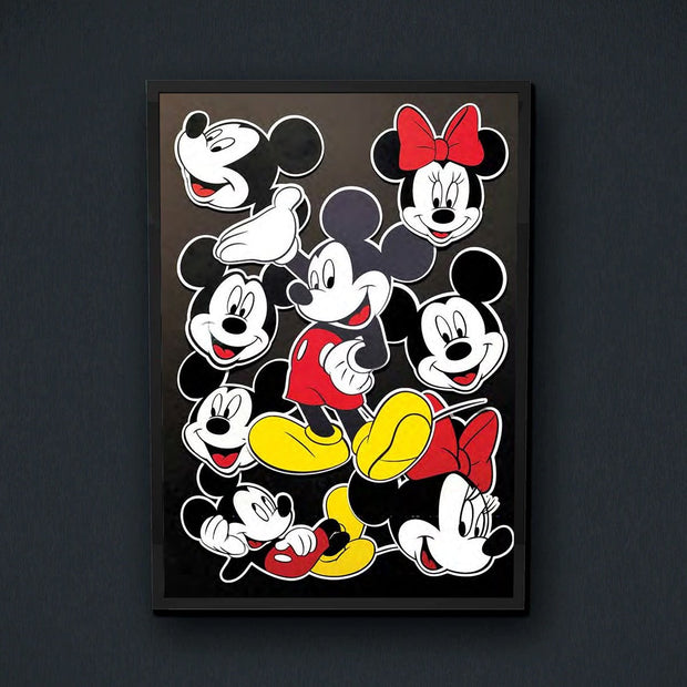 Radio Velvet Mickey Mouse Framed Print - Dominique Falla Urban Attitude