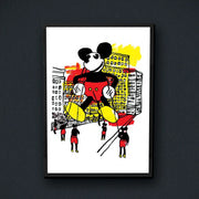 Radio Velvet Mickey Mouse Framed Print - Hugh Ford Urban Attitude