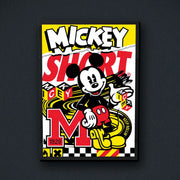 Radio Velvet Mickey Mouse Framed Print - Mighty Short Urban Attitude
