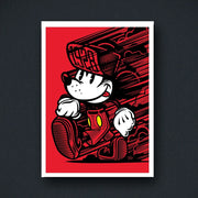 Radio Velvet Mickey Mouse Framed Print - Travis Price Urban Attitude