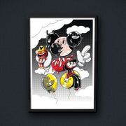 Radio Velvet Mickey Mouse Framed Print - Waste Studio Urban Attitude