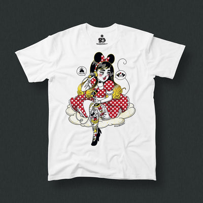 Radio Velvet Mickey Mouse T-Shirt - Dizzy Little Dotty Urban Attitude