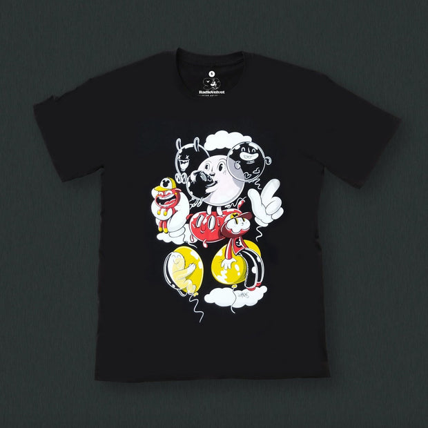 Radio Velvet Mickey Mouse T-Shirt - Waste Studio Urban Attitude