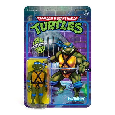 Super7 Teenage Mutant Ninja Turtles ReAction Figure - Leonardo Urban Attitude