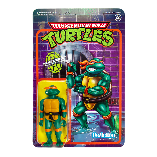 Super7 Teenage Mutant Ninja Turtles ReAction Figure - Michelangelo Urban Attitude